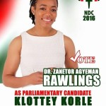 Dr Zanetor Agyeman Rawlings  Poster Pops Up (PHOTO)