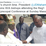 Prez Mahama celebrates Mass With West African Catholic Bishops -Video +PICS