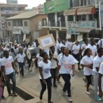 Photos: Kumasi walks for children with cancer