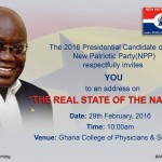 Nana Addo To Present True State Of The Nation Address On 29Th