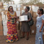 Frist Lady Provides Education Materials & Medical Supplies To Some CHPS Compounds At Ampoma in B/A R...