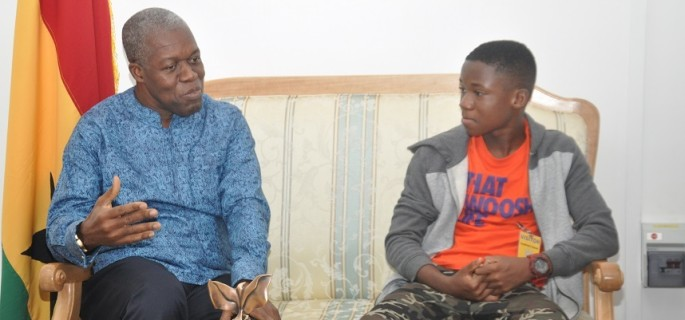 Vice President hosts Abraham Attah -Pictures + Video
