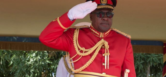 President Mahama Wears Army Uniform