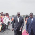 Mahama arrives in Togo for Extraordinary AU Summit