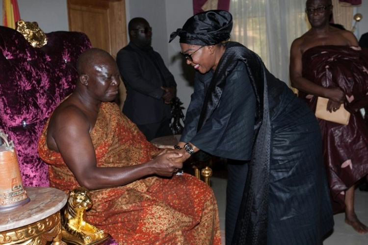 Lordina mahama and otumfoc