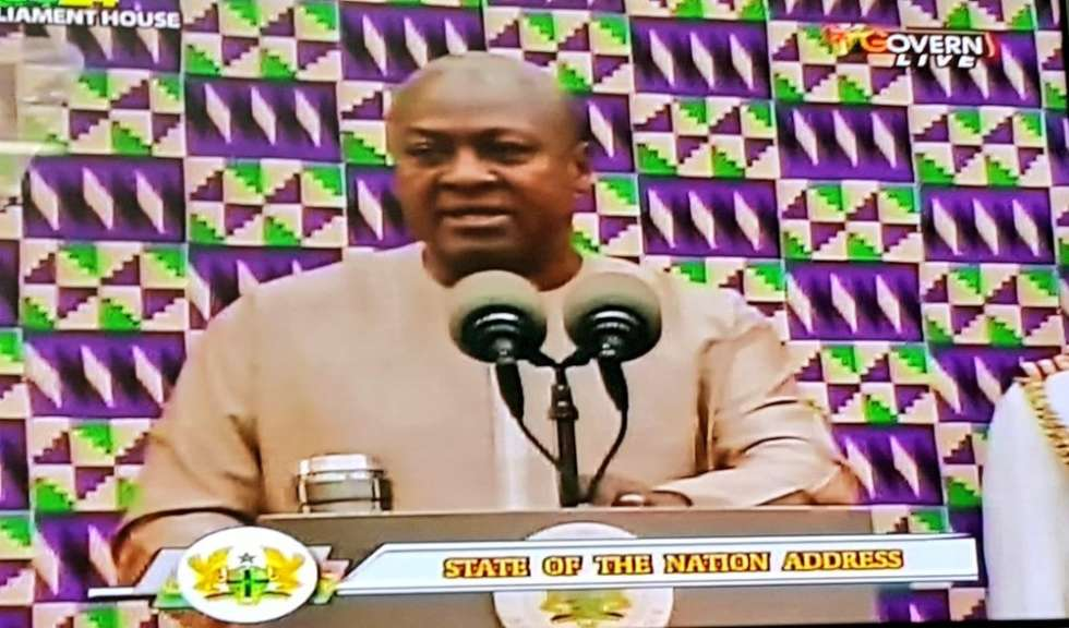 John mahama last state of nation