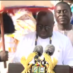 Umbrella falls on him President Akufo-Addo