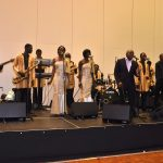 "Ghanaian live band group ""Maggot"" entertains patrons on Christmas Day"